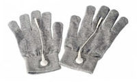 Grijze Mystim Magic Gloves - Vibrerende Handschoenen - Grijs