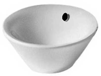 Afbeelding van Witte Duravit Philippe Starck fontein losse kom33cm met Wondergliss wit 04083300001