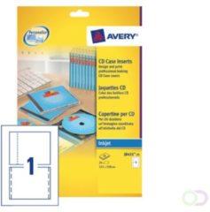 CD-inlegkaarten Avery 151x117mm wit 25 vel 2 kaarten per vel
