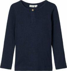 Blauwe Name it Name-it Unisex Tshirt Kabille Dark Sapphire - 80
