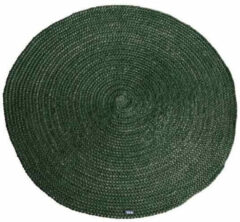 Groene By-Boo By Boo By Boo carpet jute round 120x120 cm green