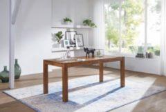 Wohnling WOHNLING Design Esstisch MUMBAI Holz Massiv 160 x 80 x 76 cm | Moderner Esszimmertisch Sheesham Palisander für 6 - 8 Personen Massivholz