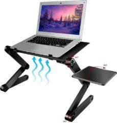 Zwarte Executive Office Solutions Universele Laptop Standaard - Opvouwbaar - Inklapbaar - 7 tot 16 inch - Portable Houder voor Macbook/iPad/Laptop/Tablet/E-reader - Stand voor op Tafel/Bureau/Bed/Schoot