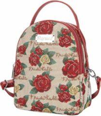 Rode Signare - Mini Backpack - Schoudertas - Frida Kahlo Rose