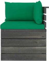 Groene VidaXL Tuinbank 4-zits met kussens pallet massief grenenhout
