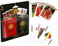 Speelkaarten Rode Duivels - Belgian Red Devils Playing Cards Duopack Original and Action Image - WK Belgie