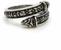 Spiru Verstelbare Viking Ring Runen Zilverkleurig