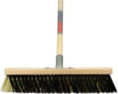 Creme witte Talen Tools X-bezem 40 cm. crème/zwart compleet met steel 150 cm.