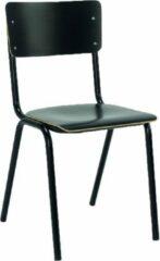 Zwarte RoomForTheNew stoel 088 - eetkamer stoel - kantinestoel - stoel - chair - stoelen - eetkamer stoelen - kantine stoelen - bruine stoel - stoel wit