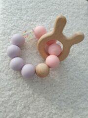 Roze Hee! Baby handmade Bijtring, lief