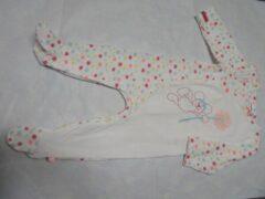 Witte Pyjama noukie's 9 maand 74 , in katoen met bloempjes