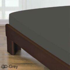 Antraciet-grijze Homee Homéé® Hoeslaken Gladde Katoen - antraciet 180x200 +30cm