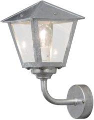 Konstsmide Benu 439-320 Buitenlamp (wand) Energielabel: Afhankelijk van de lamp Spaarlamp, LED E27 60 W Staal