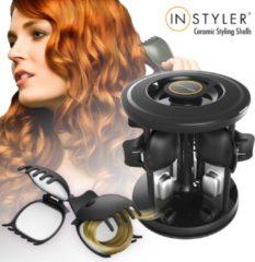 Zwarte Instyler Ceramic Styling Shells - Krullen maken met clips - Krulset - Warmte carrousel - Krultang - Haarkrullers - Keramisch
