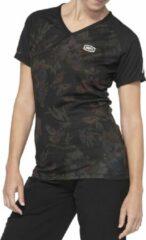 100% Dames MTB Fietsshirt Airmatic - ZwartGroen - L