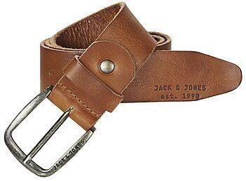 Afbeelding van Bruine Jack & Jones Men's Paul Leather Belt - Mocha Bisque - S (80cm) - Brown