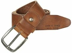 Bruine Jack & Jones Men's Paul Leather Belt - Mocha Bisque - S (80cm) - Brown