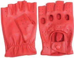 Swift racing vingerloze, auto handschoenen | mannen / vrouwen | rood leer | maat L