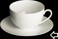 Witte DIBBERN - White Classic - Schotel voor kop 0,40l