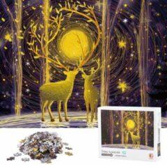White Rhinoceros Jigsaw Legpuzzel 'Deep Forest Elk' Legpuzzels 1000 Stukjes Volwassenen - Met Extra Voorbeeldposter - Museum Puzzel - Natuur - Dieren - Stad - Kunst - Hobby Speelgoed - Legpuzzels Volwassenen Kinderen - 50*70 cm