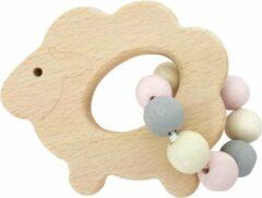 Roze Hess Spielzeug Rammelaar schaap