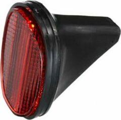 TOM reflector klein voor achterspatbord rood/zwart