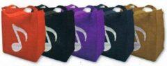Boodschappentas met muzieknoot 30x33 cm, paars