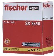 Creme witte Plug fischer SX 8 voor spaanplaatschroef (100st.)