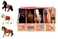Toi-Toys Toi Toys paardenstal 7 delig 28 cm