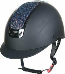 HKM Veiligheidshelm cap Glamour verstelbaar zwart / multicolour maat M 55-57cm