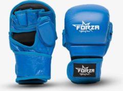 Rode Forza Fighting Gear FORZA ECHT LEDER GESLOTEN MMA HANDSCHOENEN - BLAUW
