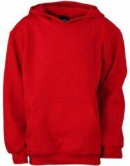 James & Nicholson James and Nicholson Kinderen/Kinderkapjes Sweatshirt (Tomatenrood)