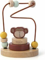 Bruine Trixie houten kralenframe | Mr. Monkey | beads maze | aap | speelgoed