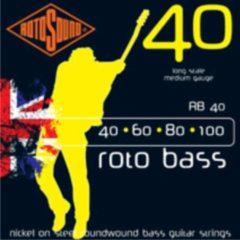 Rotosound Bas snaren RB40, 4er 40-100 roto bas, nikkel on Steel