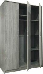 Rousseau Kledingkast Ray 120cm met 3 deuren - grijze eik