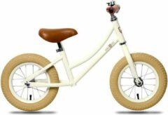 "Creme witte Rebel Kidz Air Classic Loopfiets 12,5"" Kinderen Crème"