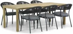 Antraciet-grijze Santika Furniture Santika Vivian/Weston 210 cm dining tuinset 7-delig