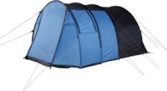 Fridani Camping-Zelt TXB 400 Tunnelzelt mit Schlafkabine für 4 Personen Outdoor Familienzelt mit Wohnraum, Belüftung, Stehhöhe, wasserdicht mit 3000mm