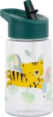 Little Lovely drinkfles Jungle junior 450 ml polyetheen groen