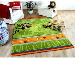 Lifestyle Kinderteppich Affenspaß Grün in 3 Größen Pergamon Grün