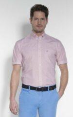 Bordeauxrode Campbell Classic Casual Overhemd Heren korte mouw