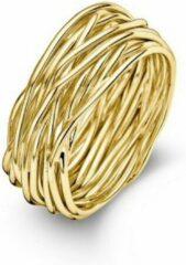 Goudkleurige Casa Jewelry Ring Wikkel 56 - Goud Verguld