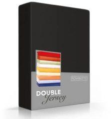 Romanette Hoeslaken Double Jersey Zwart-80/90/100 x 200/210/220 cm