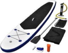 VidaXL Stand up paddle board opblaasbaar met accessoires blauw en wit
