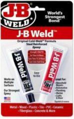 Donkergrijze JB-Weld JB-Autoweld, Zeer sterk belastbaar Vloeibaar Staal, met staalvezel versterkt Epoxy Koud-lasmiddel, compleet met navulbare speciale ontvetter in verstuiver flacon!