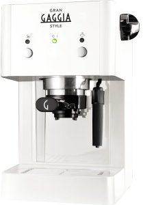 Afbeelding van Witte Gaggia Gran RI8423/21 Vrijstaand Handmatig Espressomachine 1l Wit koffiezetapparaat