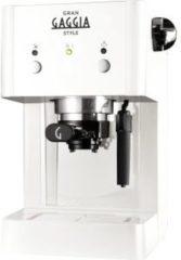 Witte Gaggia Gran RI8423/21 Vrijstaand Handmatig Espressomachine 1l Wit koffiezetapparaat