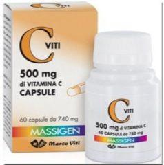 Marco viti farmaceutici Massigen c viti 500mg integratore alimentare di vitamina c 60 capsule