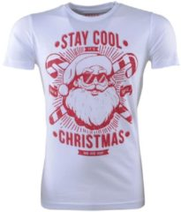Witte Ferlucci unisex kerst t-shirt ronde hals stay cool