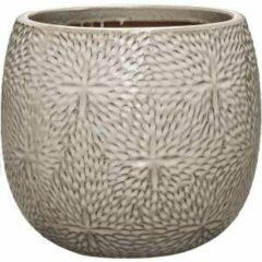 Ter Steege Pot Marly Cream ronde beige bloempot voor binnen en buiten 30x28 cm